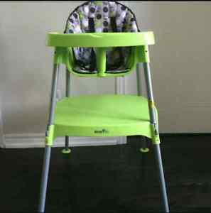 3 in 1 evenflo high chair