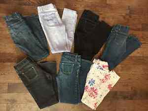 7 pr Gap/Old Navy girl SKINNY jeans