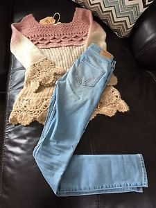 Brand new holister jeans and wool sweater