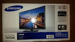 "Brand new, still in box 28"" Samsung TV"