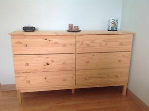 Chest of drawers and 2 night stands
