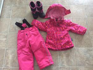 Girls Alpine tech Snowsuit and Boots