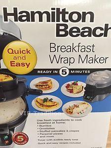 Hamilton Beach Breakfast Wrap Maker - Brand New in original