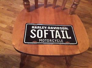 Harley license plate