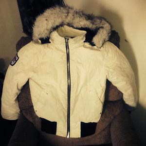 Med. down filled jacket and sm. snow pants