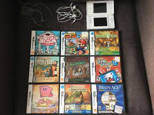 Nintendo DS Handheld System + 9 Games