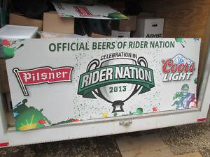 Old Style Pilsner RIDER Nation double sided sign