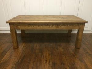 Rustic style coffee table.