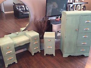 Shabby chic dresser,desk, and night stand