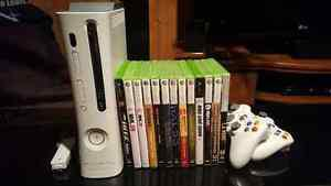 Xbox 360 console with controllers & games incl.