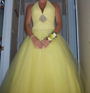 Yellow Gown by Mori Lee