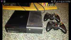 250GB Xbox 360 with 2 controllers and 7 games