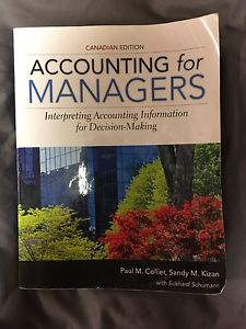 Accounting for managers canadian edition u of w