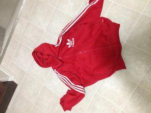 Adidas original red hoodie from England