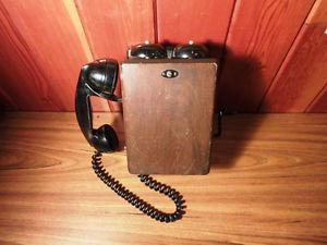 Antique Wooden Crank Phone