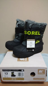BRAND NEW SOREL KID'S / YOUTH WINTER BOOTS SIZE 13