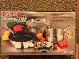 For Sale: PADERNO STEEL CHEF 5 PIECE SET