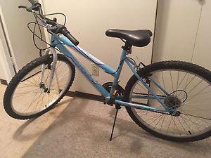Girls white and Blue Mountain Bike