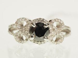 HUGE Vintage Black & White Diamond Engagement Ring!