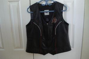Ladies Harley leather veat