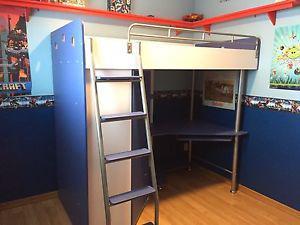 Jysk Nika Loft Bedworkstation Grey Posot Class