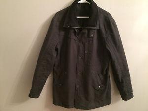 Mens Black Dress Coat XL
