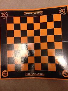NHL checkers and tic tac toe board