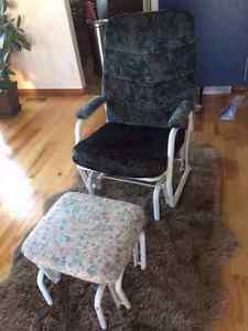 Rocking chair and gliding ottoman