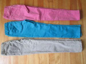 Size 10 corduroy and cotton pants Lot