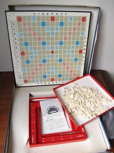 Vintage Scrabble Crossword Board Game