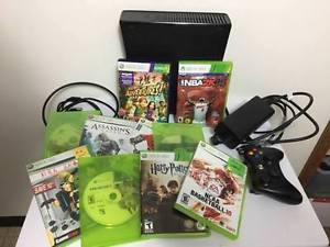 XBOX 360 w/ Kinect + 11 Games