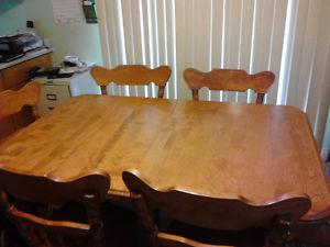 kitchen table 6 chairs with leaf