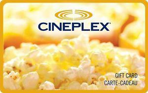 $158 in Cineplex gift cards
