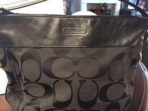 Beautiful Signature Black COACH Shoulder Bag $50!!