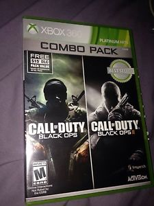 Black ops 1 and 2 Xbox 360 for sale