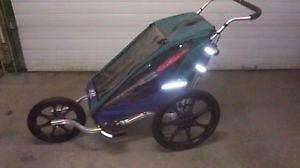 Chariot jogging stroller and bike attachment