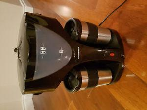 Double sided coffee maker