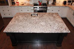 Kitchen Island Cabinets, Granite Counter Top, MiniFridge,