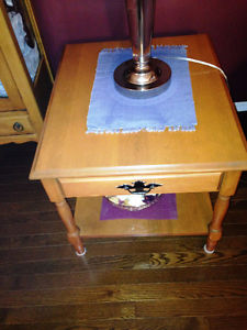 Maple Coffee Table with 2 end tables