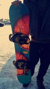 NEVER been used Snowboard and Bindings