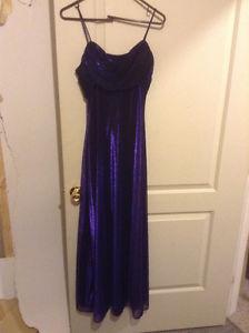 Shiny Blue Long Dress
