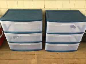 Storage containers -3 drawer 20 each or 30 for the pair