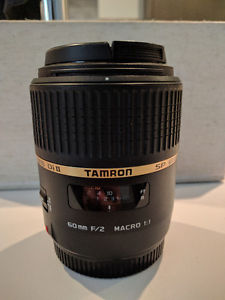 Tamron 60mm f/2 macro lens for canon