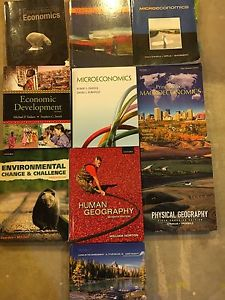 Variety of Economics and Geography Textbooks