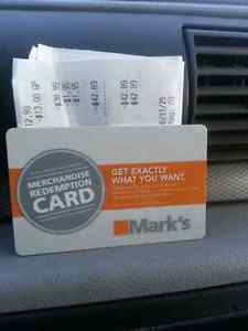 $42 Mark's Gift Card for $30