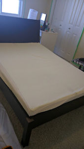 Double mattress memory foam and bed frame