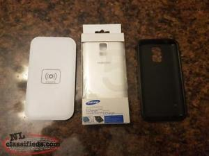 Galaxy S5 Wireless charging back and charger.