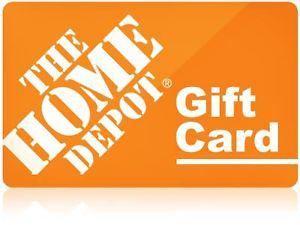 Home Depot Gift card with $100 balance