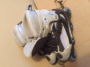 Like brand new never worn! Roller blades. Size .