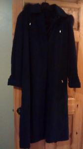 London Fog Dark Navy Ladies Winter Dress coat
